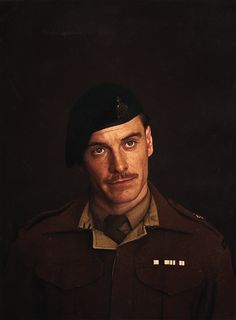 Fassy as Lt. Archie Hicox..He was so sexy in militar uniform...