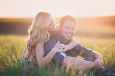 Sunset Engagement Session That's Golden ~ we ♥ this! moncheribridals.com