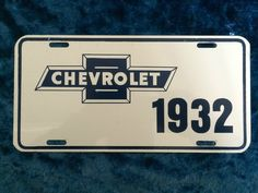 Never Used 1932 CHEVROLET License Plate - Vanity Plate -  Free Ship!!!!!!!!!!