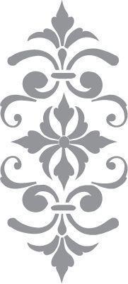 Glass etching stencil of Fleur de Lis. In category: Fleur de Lis Mehr Stencil Patterns, Stencil Art, Stencil Designs, Embroidery Patterns, Stencil Templates, Damask Stencil, Hand Embroidery, Glass Etching Stencils, Scroll Saw Patterns