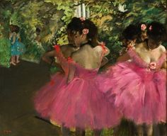 "dominusvenustas: ""Degas loved to paint scenes from the ballet stage and dressing rehearsals. He regularly went to the Paris Opera House as a visitor backstage to observe these scenes. It was a subject..."
