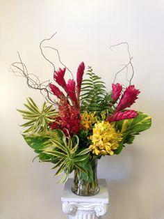 tropical arrangement at Love in Bloom,  Key West