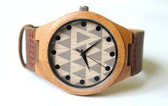 Ekozegarek z drewna i skóry UNIKAT - Karot-ART - Zegarki na rękę