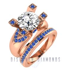 Certified 2.25Ct Round Diamond 14k Solid Rose Gold Solitaire Engagement Ring Set #discovediamond #Solitaire #Engagement