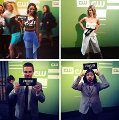 #Arrow & #TheFlash cast at the #CWupfront 2015