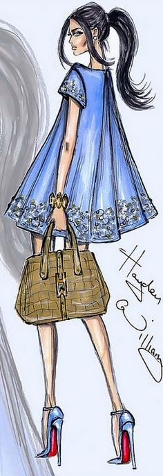 Fashion Illustration by Hayden Williams | House of Beccaria~ #FashionSketches