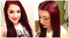 How To Dye Dark Hair RED Without BLEACH! | Someday I will have red hair lol