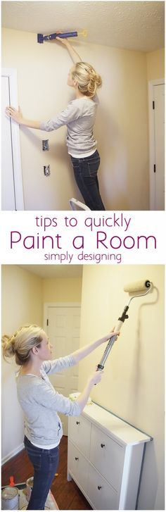 All the best tips to quickly paint a room is found in this tutorial! A must read