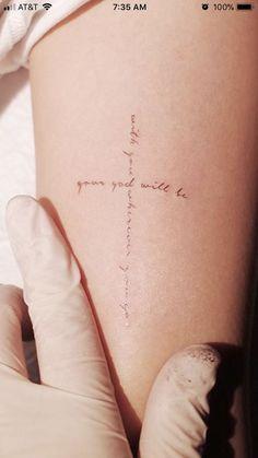 Glaubensbasiertes Kreuz- Really love it! Faith Based Cross # Faith Based # Cross # Really LOVE! Faith based Cross Really love! Little Tattoos, Mini Tattoos, Love Tattoos, Beautiful Tattoos, Trendy Tattoos, Faith Tattoos, Awesome Tattoos, Biblical Tattoos, Scripture Tattoos