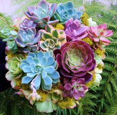 Love Garden Bridal Bouquet Succulents for your Wedding Eco Friendly Unique