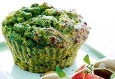 Skønne sunde muffins med spinat. Spis dem eventuelt med en salat til.