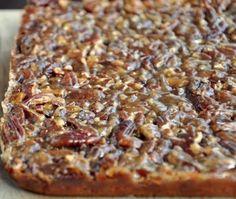 Pecan Pie Bars- Yep...these will be made this Christmas!