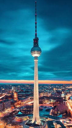 German capital Berlin. Lovely city and I adored having dinner in a restaurant up in the tower pictured here.