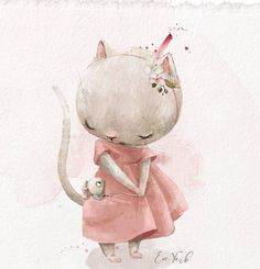 Maus Illustration, Funny Illustration, Baby Banners, Watercolour Tutorials, Beautiful Drawings, Vintage Pictures, Artist Art, Flower Prints, Cute Art