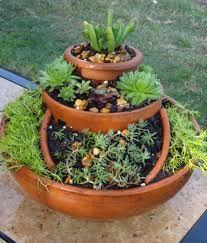 Image result for broken pot succulent garden