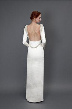 Vestido de novia con escote en la espalda ¡Moda con Estilo!