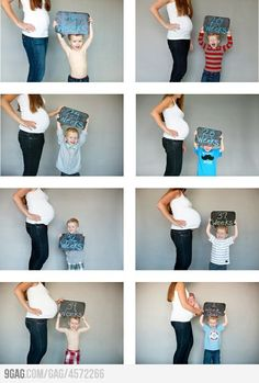 Cute pregnancy photo ideas involving your other children, during and after pregnancy :)