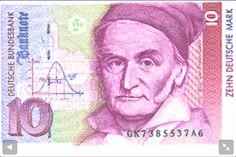 Karl F. Gauss on 10 Mark bill.