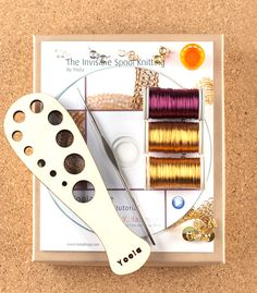 A unique jewelry making kit in Yoola's wire crochet invisible spool knitting technique. with the kit you will learn how to wire crochet a glamorous tube necklace Each design has its own Video tutorial Wire Wrapped Jewelry, Wire Jewelry, Handmade Jewelry, Jewelry Tools, Jewlery, Unique Jewelry, Spool Knitting, Viking Knit, Wire Crochet