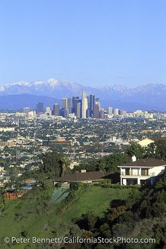Los Angeles Skyline, San Gabriel Mountains, California (LA)