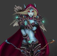 Sylvanas Windrunner by jazzjack-KHT on DeviantArt World Of Warcraft Game, World Of Warcraft Characters, Elf Characters, Warcraft Art, Fantasy Characters, Lady Sylvanas, Dnd Elves, Sylvanas Windrunner, Female Elf