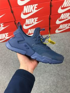 New Color 2018 NIke Air Huarache Drift PRM Men's Running Sports Shoes Dark Blue AH7334-400