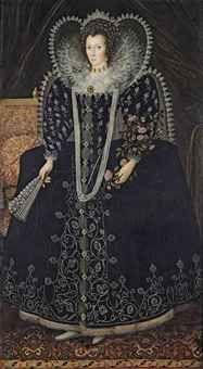 English School, Portrait of a Lady probably Frances Howard Dowager Countess of Kildare, later Baroness Cobham Mode Renaissance, Renaissance Fashion, Historical Costume, Historical Clothing, Nottingham, Dinastia Tudor, Isabel I, 16th Century Fashion, 17th Century