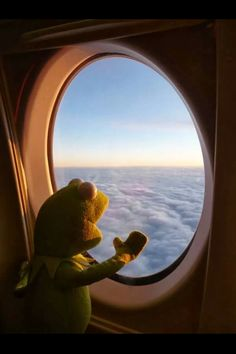 How could I resist a Kermit travel photo? 🙂 How could I resist a Kermit travel photo? Sapo Kermit, Les Muppets, Living Puppets, Sapo Meme, Frog Wallpaper, Memes Lindos, Kermit The Frog, Jim Henson, Reaction Pictures
