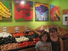 Such a cool story about kids turning their artwork into digital images for use in a community business and gaining a profit to buy art supplies for local schools