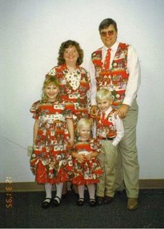 Every year after Christmas, Maggie made the entire family a new wardrobe out of the left over wrapping paper.