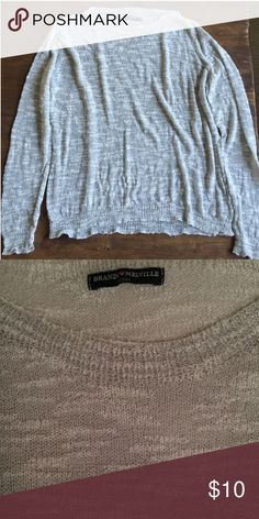 Brandy Melville thin light grey sweater Thin (slightly sheer) grey sweater from Brandy Melville. One size fits most. Brandy Melville Sweaters Crew & Scoop Necks