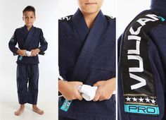 """2015 Vulkan Pro Light Kids Jiu Jitsu Gi - Navy Blue 1  ... """"Killer Joey""""- - -Watch out ! !"""