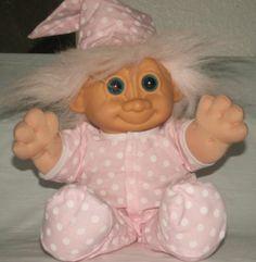 Vintage Troll Doll Nighty Night Girl Pajamas in Pink Made by Russ | eBay