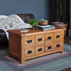 A touch of country living with the Cottage Oak Coffee Table With Drawers from The Cotswold Company. Free Delivery on all products! Coffee Table With Drawers, Oak Coffee Table, Oak Table, Table Plans, Colour Schemes, Real Wood, Living Room Furniture, Living Rooms, Woven Rug