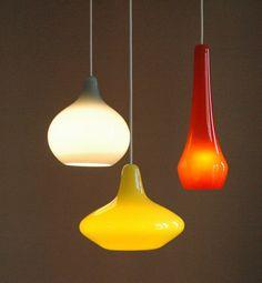 Holmegaard glass chandelier Vintage danish design by ICONICLIGHTS