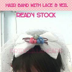 Hairband veil #veil #hairband #hairpiece #jualveil