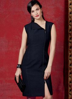 V1593 | Misses' Dress | Vogue Patterns Vogue Patterns, Straight Cut Pants, Designer Jumpsuits, Sewing Blogs, Sewing Ideas, Miss Dress, Dress Sewing Patterns, Pattern Dress, Gorgeous Fabrics