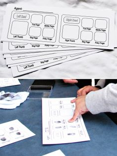 Spy finger printing sheets