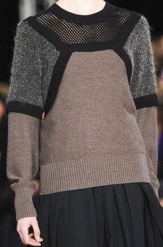 Jumper with contrasting panels; runway knitwear; fashion details // Philosophy di Alberta Ferretti Fall 2013