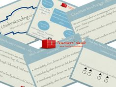 Understanding commas - SPAG English teaching resource and display. KS2 SATs practise.