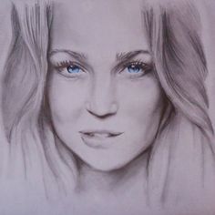 Drawing of the actress Caity Lotz, known as Sara Lance aka Canary in Arrow (CW) Dessin Draw Artwork Sketch