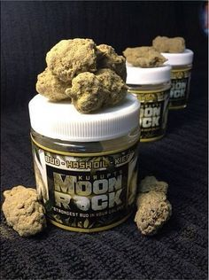 "Kurupt's Moonrock is dedicated to providing the strongest cannabis medicine products in the galaxy. Our proprietary C02 extraction process provides quality, consistency, and the ability to serve specific conditions with appropriate dosage. A Moon Rock is a celestial bud of strain specific bud, drenched in CO2 oil, and then coated in a heavy layer of ""sicdust"" (or kief). This cosmic blend boasts a THC percentage of roughly 52 percent."
