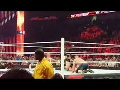 WWE Raw 2016 - John Cena & Roman Reigns VS Seth Rollins & AJ Styles Full...