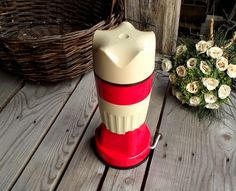 Plastic Retro Juicer / Squeezer Red And Beige - French Kitchen Vintage by My French Bric-a-Brac on Gourmly