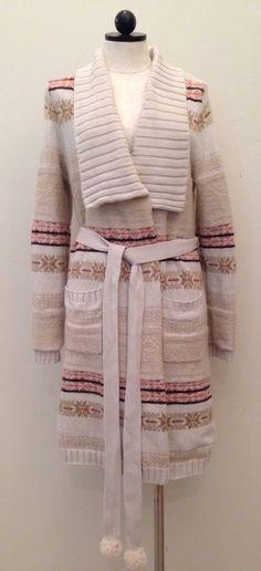 Anthropologie Fireside Cardigan Sweater Robe by Eloise Sz M/L Fair Isle $148 #AnthropologiebyEloise #Robes