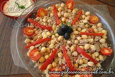 Receita de Salada de Grão-de-Bico com Atum