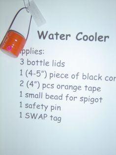 water cooler swap