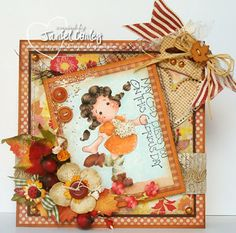 Fall Tilda Card: May God Bless You on This Gloious Day..