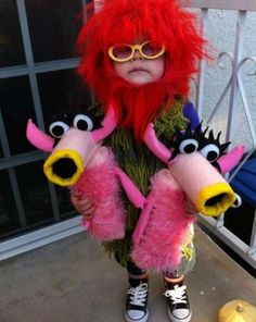 """MAHNA MAHNA (2012): Annie Stanner Cooper came through for her son Emmett, including two """"Snowths"""" puppets. Annie told us in 2012: ''Emmett would wear this costume every day if I let him, but unless he's holding The Snowths, he just looks like he should be dancing around at Burning Man.''"""