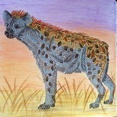 Coloring # Millie Marotta # Wild Savanna # hyena